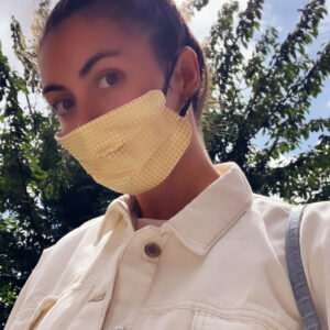 Lila Yellow Gingham Face Mask