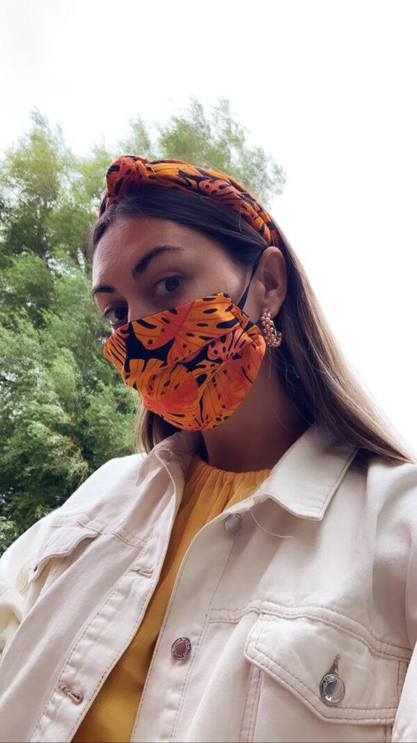 Lila Orange Palm Face Mask Set