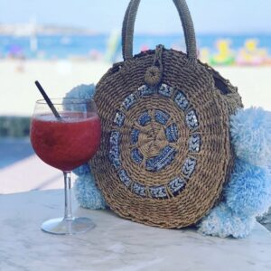 Lila Sea Breeze Beach Bag