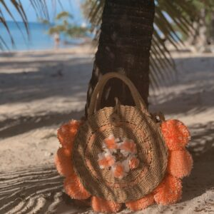 Lila Orange Rise Beach Bag