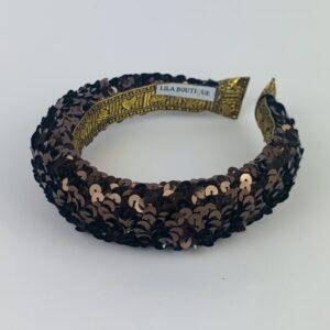 Lila Brown Sequin Padded Headband