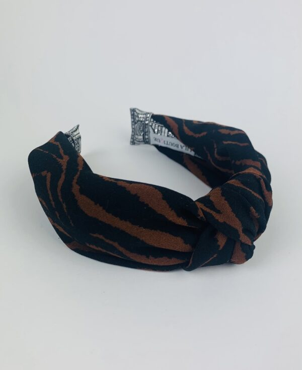 Lila Tiger Print Turban Headband