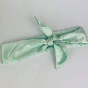 Lila Mint Satin Hair Tie