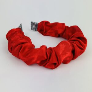 Lila Red Satin Ruffle Headband