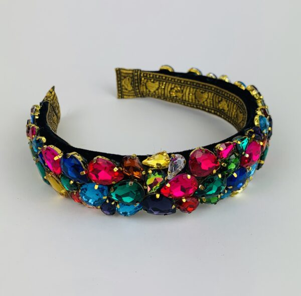 Lila Rainbow Jewelled Headband