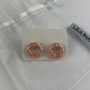 Lila Rose Gold Circle Earrings