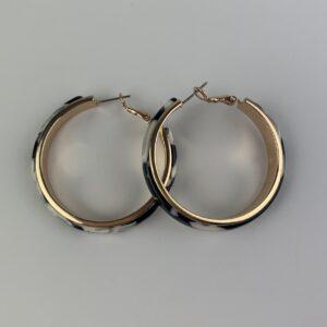 Lila Marble Hoop Earrings