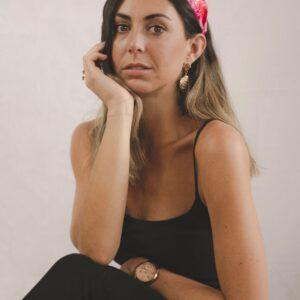 Lila Pink Blossom Turban Headband