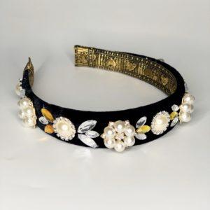 Lila Jewelled Milla Pearl Headband
