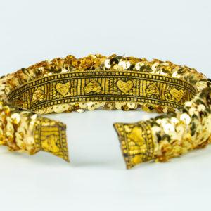 Lila Gold Sequin Padded Headband