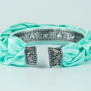 Lila Mint Green Satin Plaited Headband