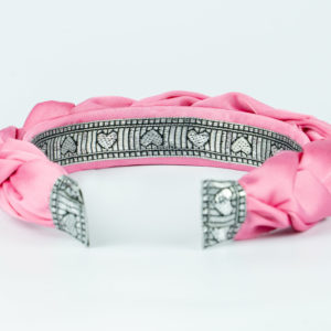 Lila Pink Satin Plaited Headband