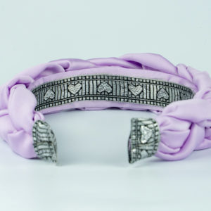 Lila Lilac Satin Plaited Headband