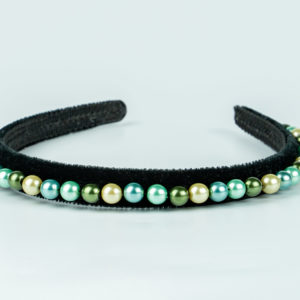 Lila Mermaid Pearl Thin Headband