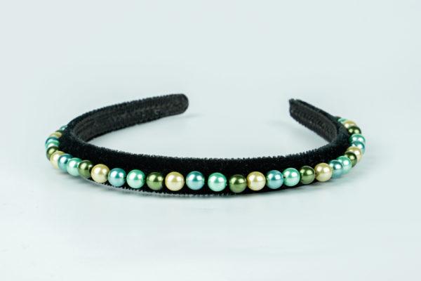 Lila Mermaid Pearl Thin Headband