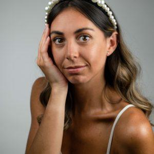 Lila Jasmine Pearl Thin Headband