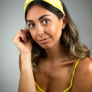 Lila Yellow Gingham Turban Headband