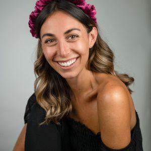 Lila Magenta Velvet Ruffle Headband