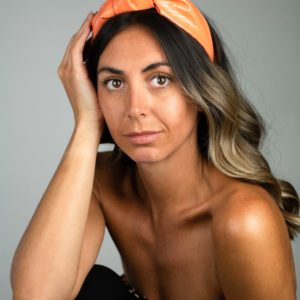 Lila Neon Orange Turban Headband