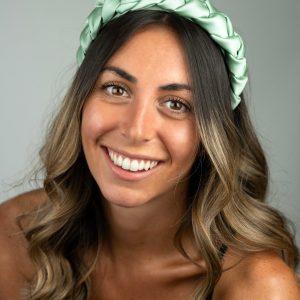 Lila Sage Satin Plaited Headband