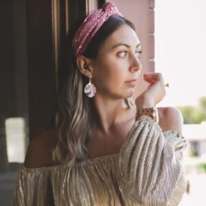 Lila Rose Metallic Turban Headband